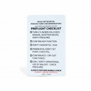 TDI CCR PREFLIGHT CHECKLIST - Sea & Sea
