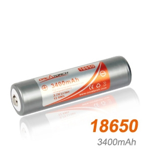 RECHARGEABLE LI-ION BATTERY 18650 - 3400MAH