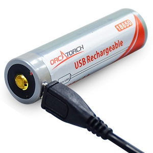 USB RECHARGEABLE LI-ION BATTERY 18650 - 3400MAH - Sea & Sea