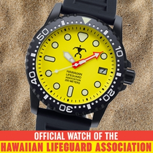 HAWAIIAN LIFEGUARD ASSC. DIVE WATCH RANGE